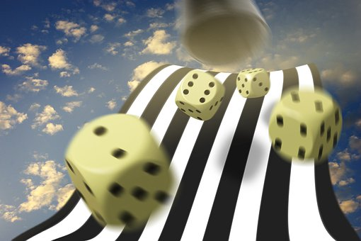 Cube, Play, Composing, Photomontage, Game, Craps