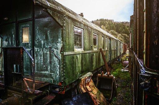 Train, Dare, Compartment, Railway, Discarded