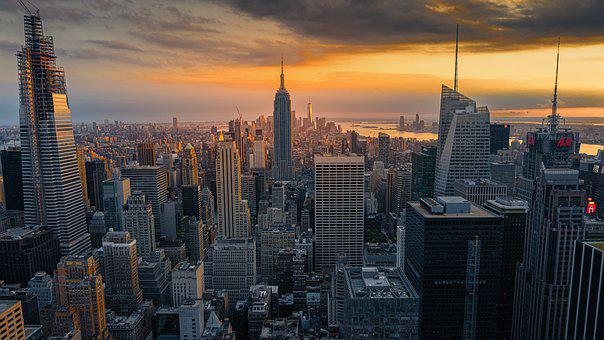Sunset, Newyork, Big Apple, Evening, America, Dusk