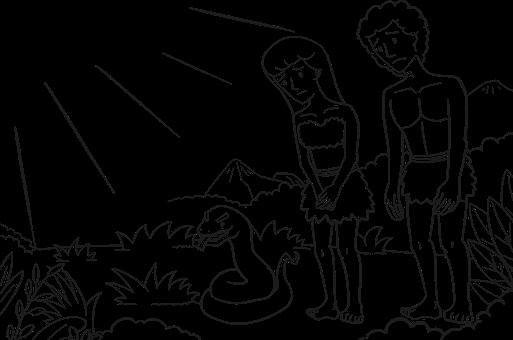 Comic Characters, God, Adam, Bible, Eden, Eve, Fall