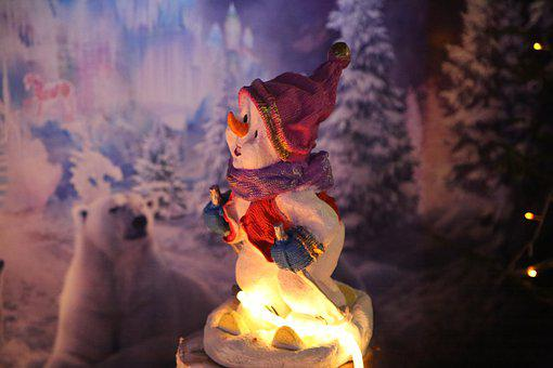 Snowman, Figure, Deco, Christmas, Winter, Decoration