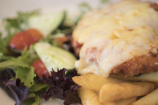 Lunch, Chicken, Parmigiana, Dinner, Food, Restaurant