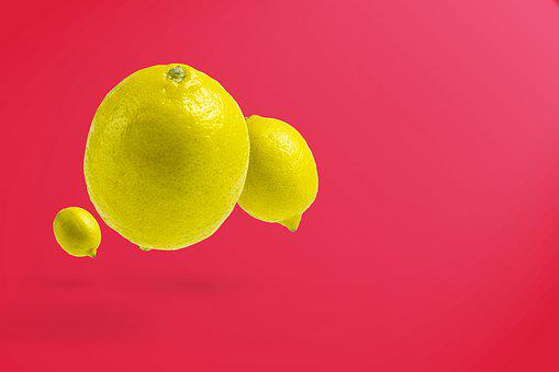 Lemon, Isolated Lemon, Floating Lemon