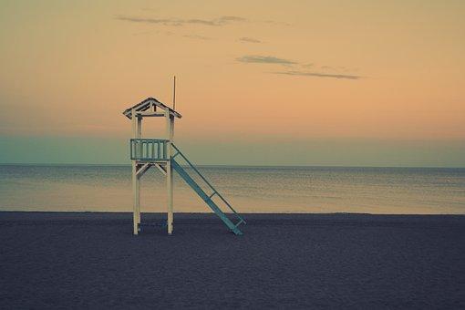 Sea Days, Life-saving Kiosks, Lookout, Sea
