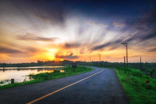 Sunrise, Landscape, Country, Vietnam, Long Exposure
