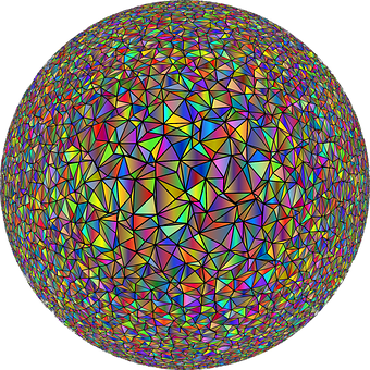 Geometric, Orb, Ball, Sphere, Globe, Round, Low Poly