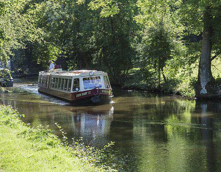 Canal, Waterway, Boat, Narrowboat, Derbyshire