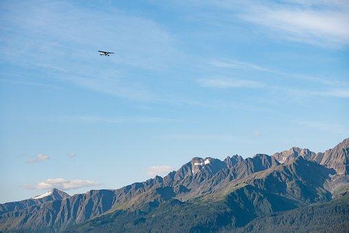 Mountains, Aircraft, Flight, Nature, Alaska
