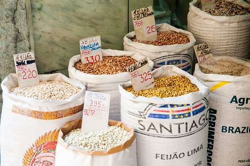 Market, Groats, Bags, Price, Spice, Spices, Bazaar