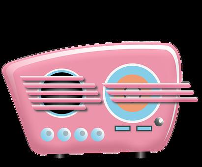 Radio, Retro, Pink, Old, Nostalgia, Music, Sound