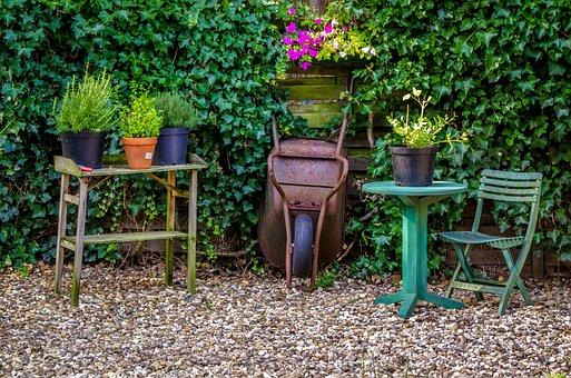 Garden, Seating Area, Garden Furniture, Seat, Idyllic