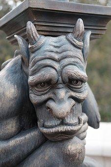 The Gargoyle, Statue, The Disneyland Resort, Gothic