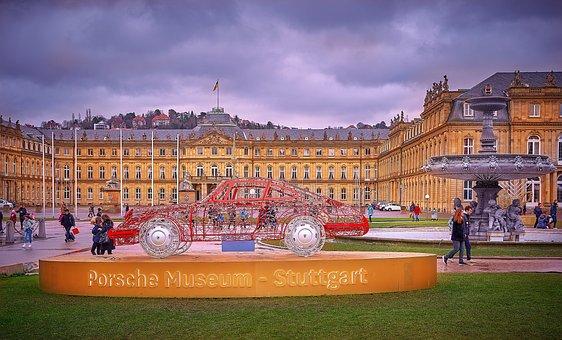 Stuttgart, Palace, Porsche, Christmas, Schossplatz