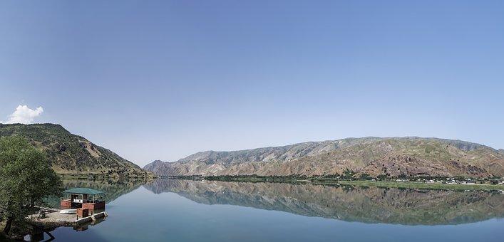 Tajikistan, Kysylsu, River, Reservoir, Water, Landscape