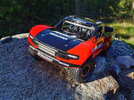 Rc Car, Traxxas, Sct, Course Truck, Udr