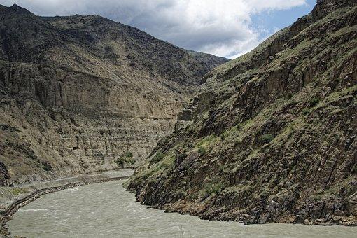 Tajikistan, Serafschan River, Turkestan Chain
