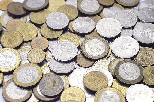 Coins, Ruble, Russian, Money, Finances, Russia, Wealth