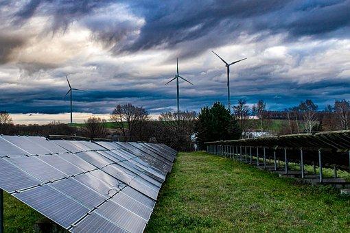 Solar Panel, Solar Energy, Windräder, Renewable Energy