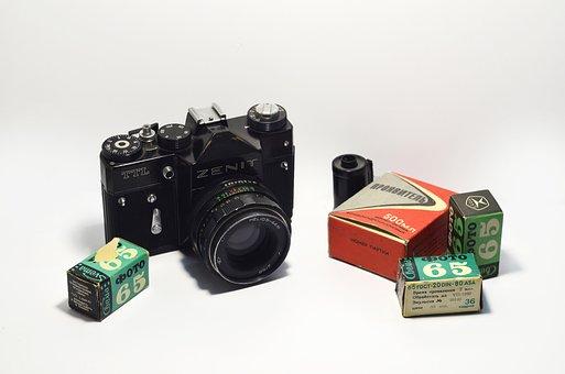 Camera, Film, Zenith, Zenit, Cameras, Lens, Retro