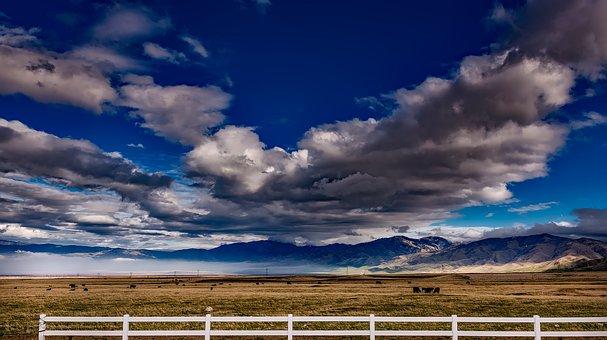 California, Landscape, Scenic, Sky, Clouds, Panorama