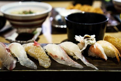 Sushi, Fish, Sashimi, Food, Seafood, Japanese, Salmon