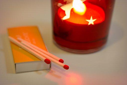 Matches, Fire, Candle, Flame, Firelight, Hot, Light