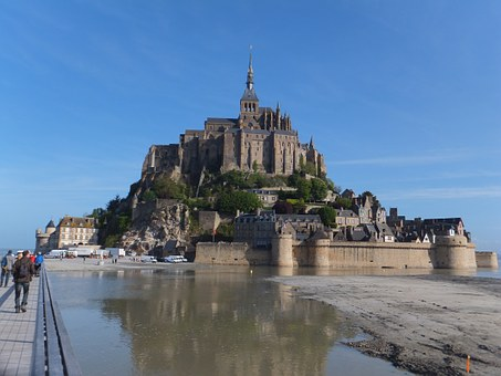 Mont Saint Michel, Brittany, Monastery, France, Castle