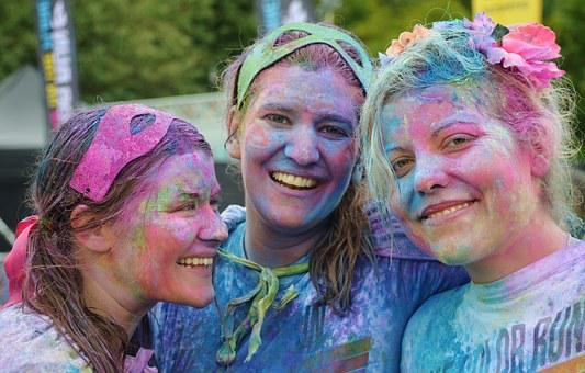 Girls, Colorful, People, Smile, Person, Happiness