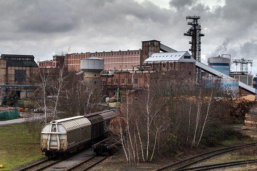 Landscape, Industry, Industrial Landscape, Smoke, Sky