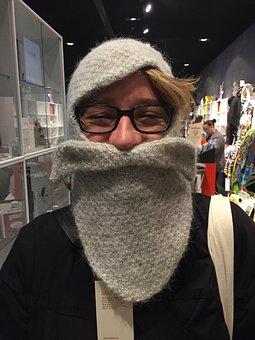 Wool, Cap, Portrait, Knit Beanie Cap, Warm, Gift, Icy