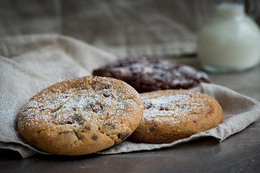 Cookie, Lighter Cookie, Nut Cookie, Food, Baked Food