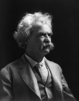 Mark Twain, Author, Writer, Philosopher, 1907, Portrait