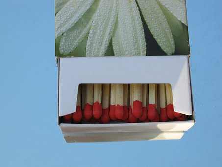 Matchbox, Matches, Box, Close, Decoration, Burn, Fire