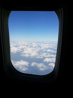 Sky, Plane, Cloud, Out The Window