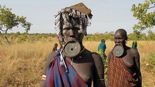 Mursi, People, Lip Plate, Indigenous Culture, Women