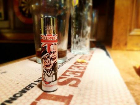 Lighter, Pub, England, Tobacco, Smoking, Drink, Alcohol