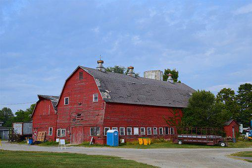 Red Barn, Farm, Barn, Red, Rural, Country, Agriculture