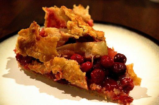 Pie, Cranberry, Rhubarb, Dessert, Pastry, Food
