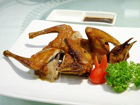 Roasted Pigeon, 烧乳鸽, Chinese, Cuisine, Crispy, Asian