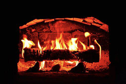 Fire, Oven, Hot, Traditional, Brick, Fireplace, Wood