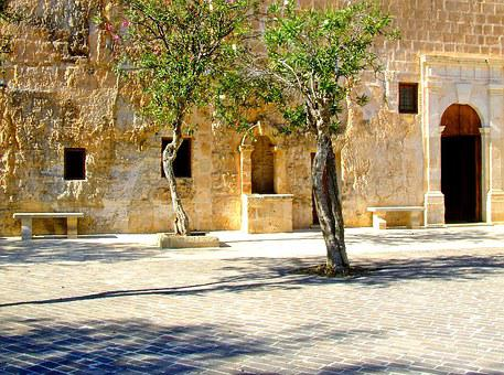 Mediterranean, Village, Square, Plazza, Village Square