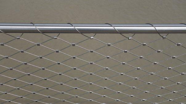 Wire, Tube, Railing, Bridge Railing, Regularly, Pattern