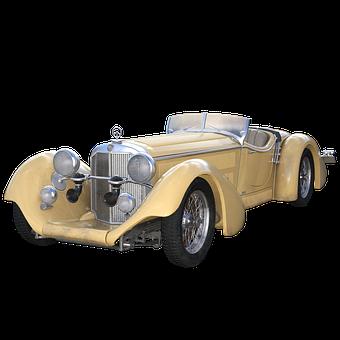 Roadster, Automobile, Car, 3d, Render, Vintage