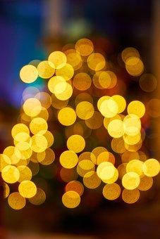 Lights, Christmas, Tree, Lighting, Bokeh, Background