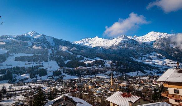 Bad Hofgastein, Salzburg, Austria, Mountains, Snow