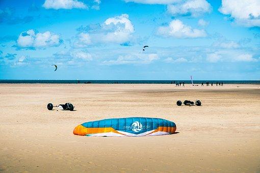 Coast, Holland, North Sea, Beach, Sky, Nature