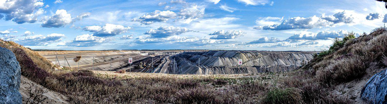 Open Pit Mining, Brown Coal, Industry, Commodity