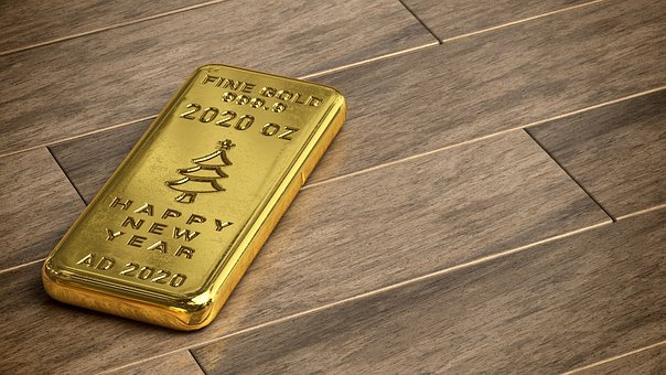 Gold Bar, Bullion, Gold, Wealth, Bank, Business, 2020