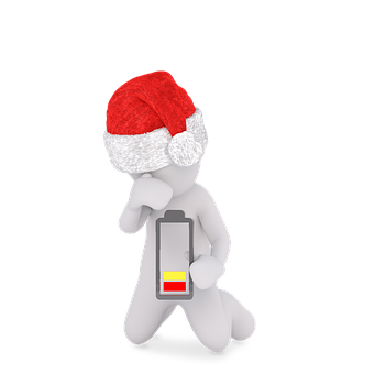 Santa Hat, Christmas, Battery, Empty, Power