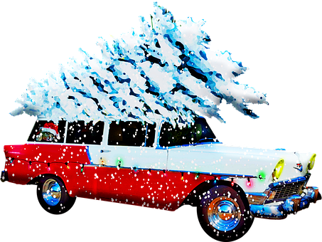Christmas Station Wagon, Christmas Car, Christmas Tree